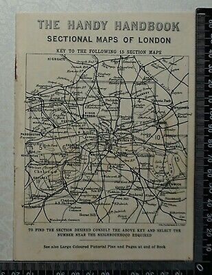 c1902 - 16 Page 'Handy Handbook Sectional Maps of London', Railways, Stations ..