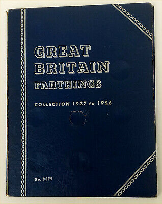 Whitman Great Britain Farthing Collection 1937 -1956 with Lustre