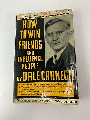 Vintage 1936 How To Win Friends And Influence People By Dale Carnegie Paperback