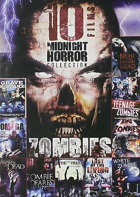 DVD - 10 Midnight Horror Collection -  Zombies [2 discs] - New