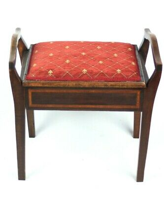 Antique Mahogany Piano Dressing Stool [5313]