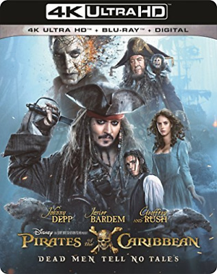 `DEPP,JOHNNY`-4K Blu-Ray - PIRATES OF THE CARIBBEAN:DEAD MEN TEL Blu-Ray NEUF