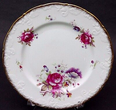 """(1) Paragon Bone China (England) Rosalee Queen's Potters Dinner Plate 10 1/2"""""""