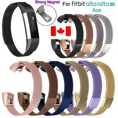 For Fitbit Alta Band Alta HR Ace Band Replacement Milanese Loop Watch Strap Can