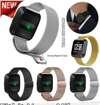 For Fitbit Versa Replacement Stainless Steel Magnetic Milanese Band Wristband