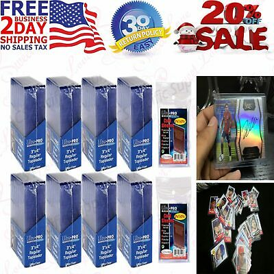 200PC Hard Plastic Baseball Trading Card Topload Holders Card Sleeves Sport Card