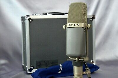 Sony C-38B W/Carrying Case Condenser Microphone Mic Cardioid & Omni