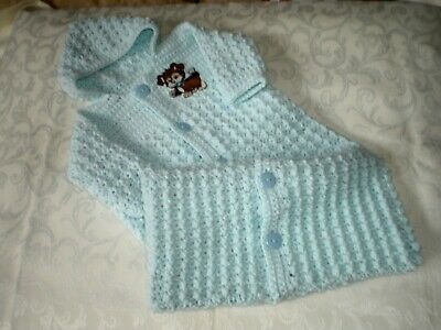 Handmade Crocheted Boys Blue Bunting for up to 6 Months