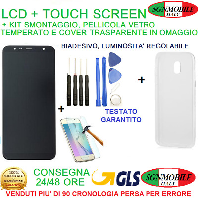 Display LCD + Touch Screen Samsung Galaxy J6 2018 SM-J600DS J600FN J600G Nero
