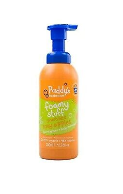 4 X Paddy's Bathroom Organic Foaming Hair and Body Mousse Rosy Apples 200ml