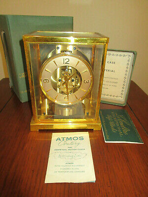 Le Coultre ATMOS JAEGER Swiss Caliber 526-5 Clock w/Original Box & Papers PS