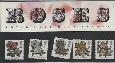 Roses 1991 Presentation Pack Of Royal Mail Mint Stamps Free P&P