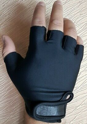 REAL LEATHER, Finger Less, Cycling, Gym, Wheelchair, Training, Driving,