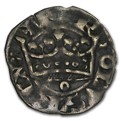 1285-1314 Kingdom of France Silver Groat Charles IV VF - SKU#192079