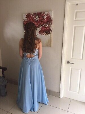 Baby Blue Prom Dress Size 8