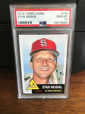 2019 Topps Living Stan Musial Baseball Card #154 PSA 10 Gem Mint