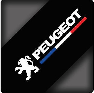 A Pair Rearview Mirror Car stickers Decals Graphics For Peugeot (White  BWD)