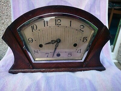 Enfield Clock Company Art Deco Westminster Chimes Mantel Clock