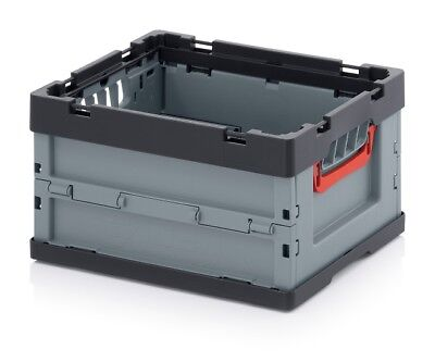 Professional - Tank Collapse 40x30x22 *Plastic Crate* Stackable *Foldable* Flip