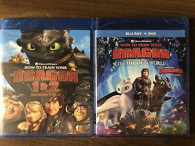 SEALED How To Train Your Dragon 1 2 3 Blu Ray & DVD The Hidden World Digital