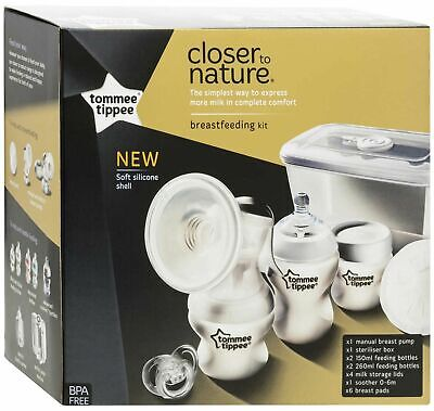 Tommee Tippee CLOSER TO NATURE BREAST FEEDING KIT Baby Feeding BN