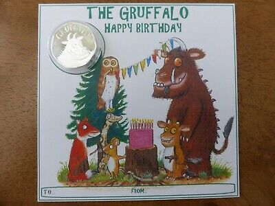 2019 Gruffalo brilliant uncirculated coin BIRTHDAY CARD .ONLY A FEW REMAINING.