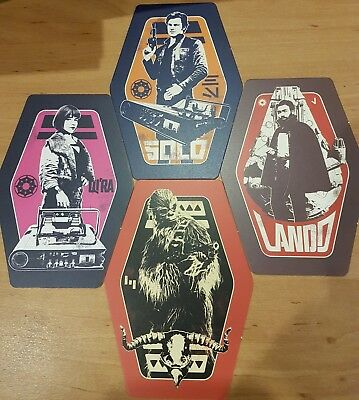 Solo: A Star Wars Story - Odeon - exclusive promo cards Complete Set x4 - RARE
