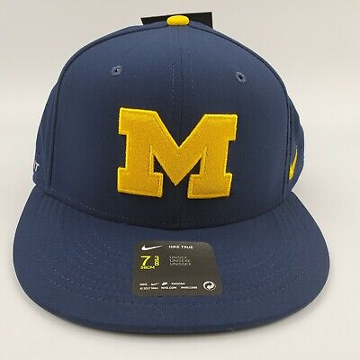 Nike Michigan Wolverines Baseball Fitted Hat - USA Flag - College World Series