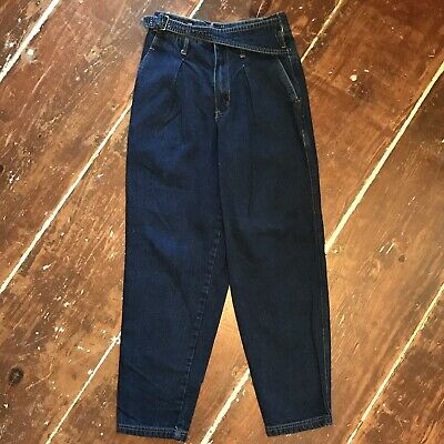 545042b85 Vintage Bugle Boy Jeans 90s Mens 29x30 Tapered High Waisted Belted Pleated