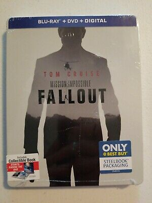Mission Impossible: Fallout (Blu-ray/DVD/Digital, 2018) STEELBOOK