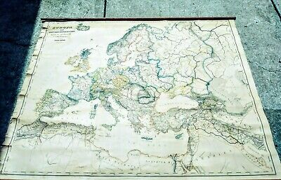 Original Europe after Reformation map RARE Perthes Hand Colored Ireland Spain