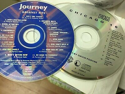 Journey Greatest Hits & Chicago 16 CDs Like NEW