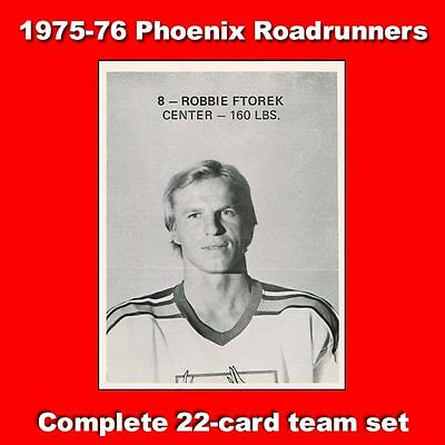 1975-76 Phoenix Roadrunners WHA Complete Team Issue Set