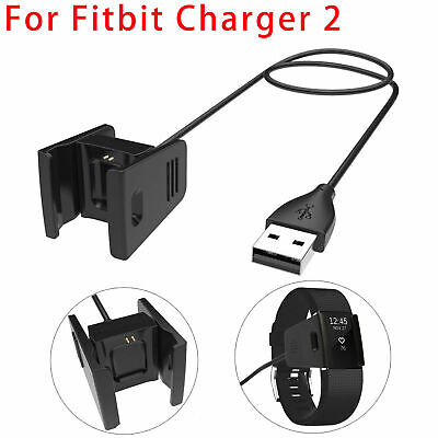 Charger For Fitbit CHARGE 2 Activity Wristband USB Charging Cable Cord Wire UK