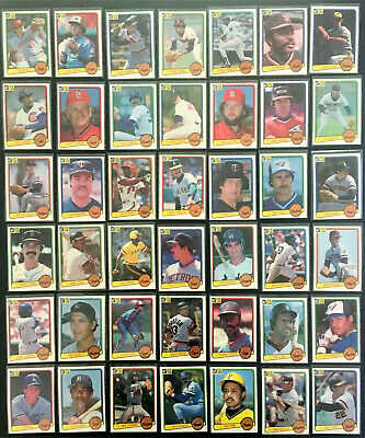 1983 Donruss Lot (42) Tom Seaver, Rod Carew, Dave Winfield, Hall of Fame Rookies