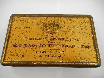 Wwi 1915 Australian Expeditionary Force Frys Chocolate Tin