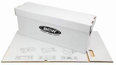 10 BCW Long Comic Book Boxes - White Cardboard Storage Box Holds 200-225 Comics