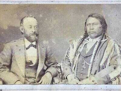 1860s Chamberlain DENVER Colorado Indian CDV Photo CHIEF OURAY & HENRY YESLER!!!