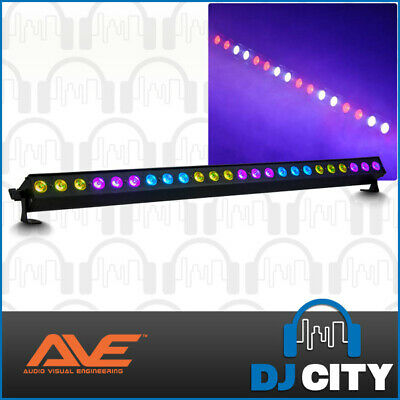 24x 1W RGB 3-in-1 LED Wall Wash Bar Light DJ Club Party Disco Stage Strip Light