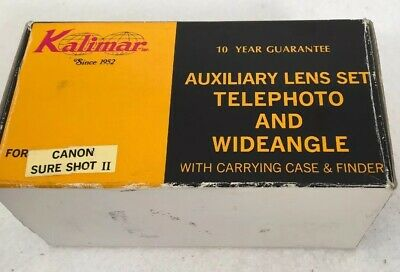 Telephoto/Wideangle auxiliary lens set for CANON SURE SHOT II AF35M II