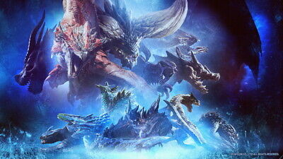 """029 Monster Hunter - Moster Fight Game 42""""x24"""" Poster"""