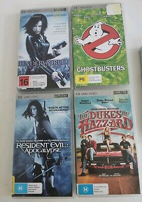 Psp Movie Bundle X4 Ghostbusters, Underworld, Res Evil Etc