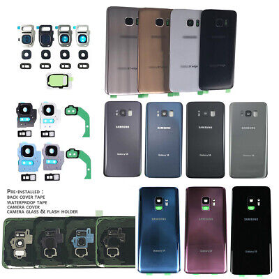 Replacement Back Glass battery Cover Back Door For Samsung Galaxy S7 S8 S8+ S9