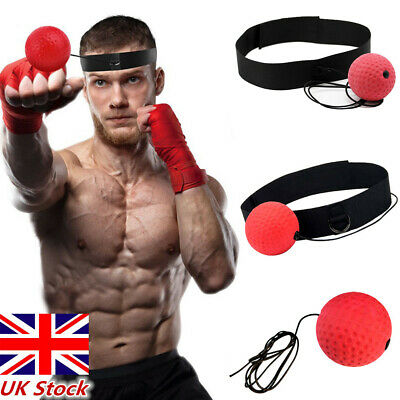 UK Fight Ball With Head Band For Reflex Speed MMA Training Boxing Punch Exercise