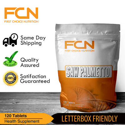 Saw Palmetto x 240 Tablets | 4+ Months | 90% Fatty Acid | PCT | DHT | Prostate |