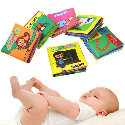 1×Kids Baby Intelligence Development Cloth Bed Cognize Book Educational Toy Gift