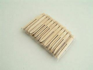 12 X Dolly Pegs Traditional Wooden Washing Clothes Peg