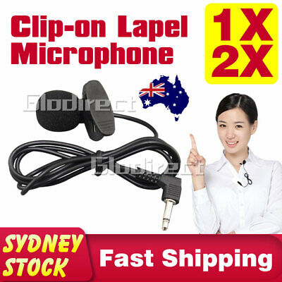 Lapel Mic Clip-on Mini Lavalier Microphone 3.5mm For Mobile iPhone PC Recording