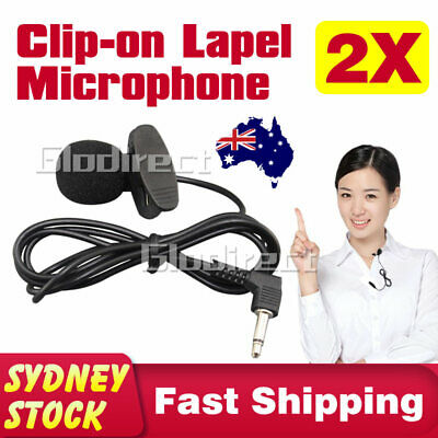 Clip-on Lapel Mini Microphone Lavalier Mic 3.5mm For Mobile iPhone PC Recording