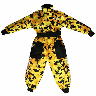 Leopard Kids Race Camo Suit Karting Quad MX Motocross - Age: 9-10 Years (L) Yell